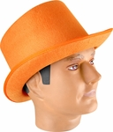 Adult Orange Sequin Top Hat