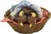 Big Bad Wolf Head in Basket Costume Prop