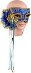 Blue Venetian Mask With Handle