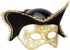 Gold And White Venetian Mask With Hat