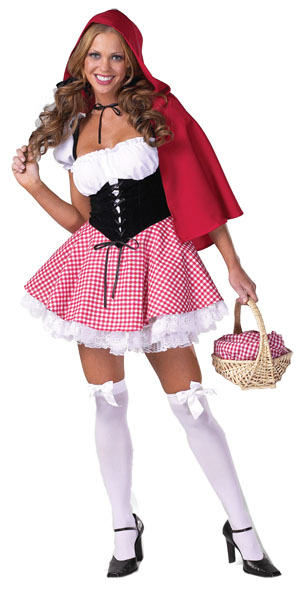 Sexy Red Gingham Riding Hood Costume