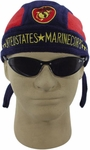 Embroidered Marine Patch Fleece Skull Cap