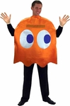 "Adult Pac-Man ""Clyde"" Orange Ghost Costume"