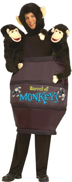 Adult Barrel Of Monkeys Costume