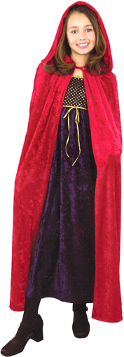 Child's Red Velvet Cloak