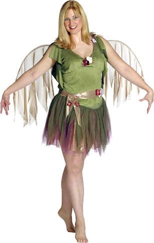 Plus Size Green Fairy Costume