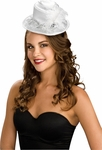White Satin Miniature Hat
