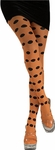 Adult Orange / Black Polka Dot Tights