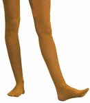 Adult Solid Orange Nylon Tights