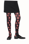 Child's Black & Orange Polka Dot Tights