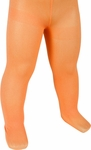 Child's Solid Orange Tights