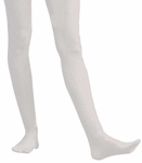 Adult Solid White Nylon Tights