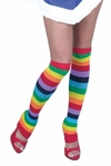 Rainbow Striped Arm & Leg Warmer Set