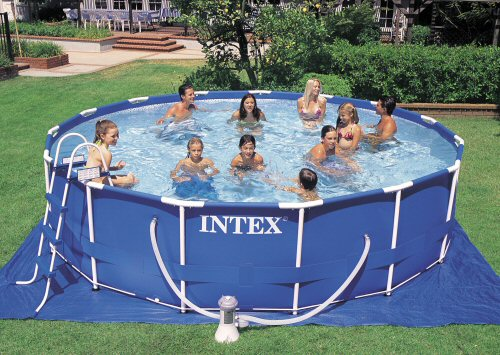Intex 15 X 42 Metal Frame Pool Set Intex Frame Set Pools