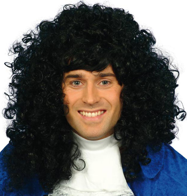 Men's Black Renaissance Wig