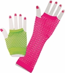 Woman's 80s Style Fishnet Gloves