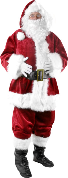Plush Professional Santa Costume Best Men S Costumes