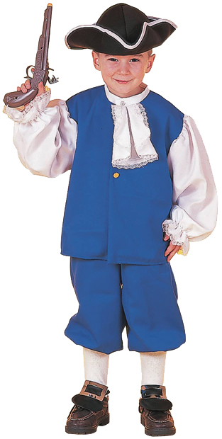 Child's Blue Colonial Boy Costume