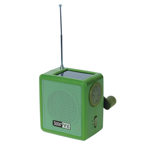 Solar and Crank Powered AM/FM and Weather Radio