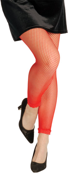 Red Fishnet Leggings