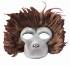 Plush Monkey Costume Face Mask