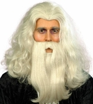 Merlin's Magic Wizard  Wig And Beard Set
