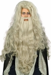 Sorcerer Costume Wig And Beard Set