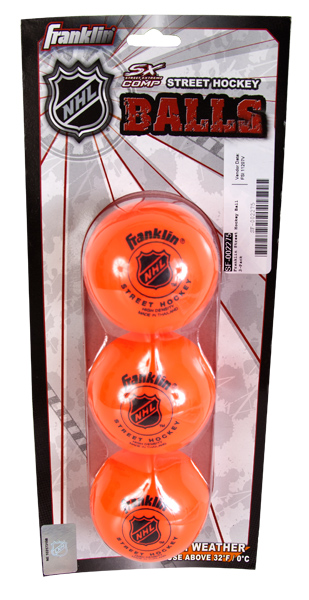 Street Hockey Balls 3-Pack