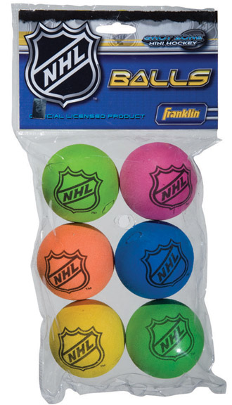 Hockey Foam Balls 6-Pack