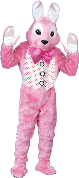 Adult Deluxe Pink Bunny Mascot Costume