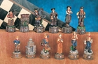 Cowboy Chess Piece Set Model Cowboy Chess Piece Set Only