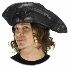 Adult Old Pirate Hat in Black