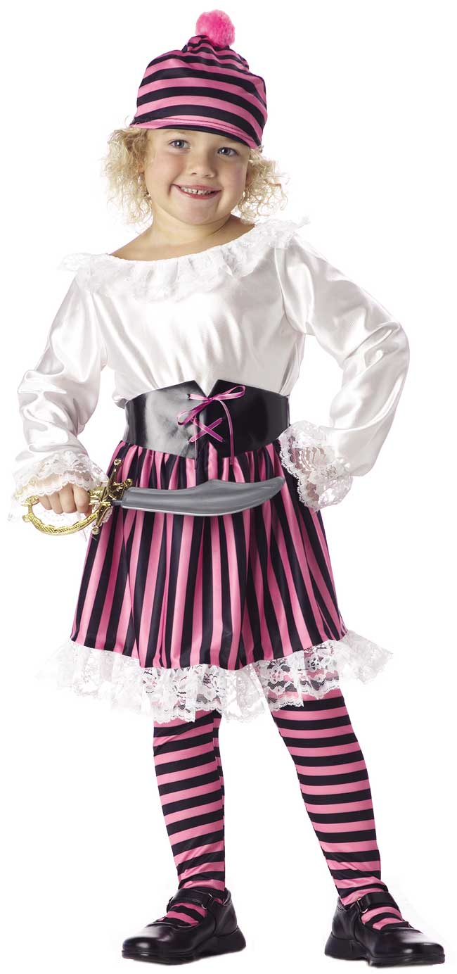 Toddler Little Girl Pirate Costume | Pink Pirate Costumes ...