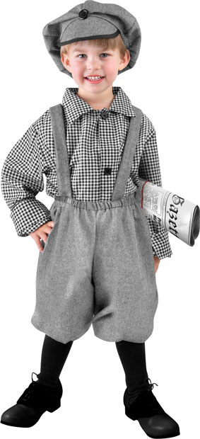Toddler Old Fashioned Newsboy Costume Best Toddler