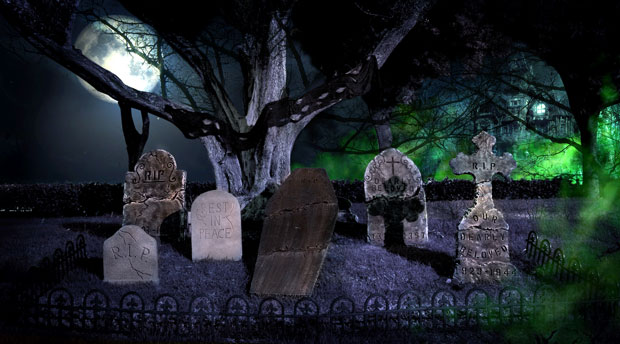 Ultimate Halloween Graveyard Scene Kit Halloween