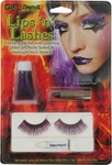 Purple Halloween Lipstick Eyelash Make Up Kit