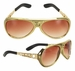 Classic Gold Elvis Presley Sunglasses