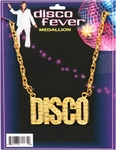 70s Style Disco Fever Medallion Necklace