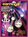 Women's 70s Style Silver Disco Ball Earrings