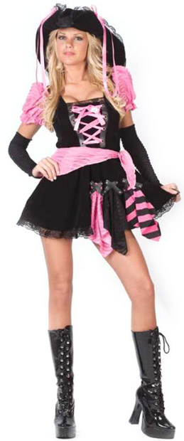 Adult Pink Sexy Pirate Costume