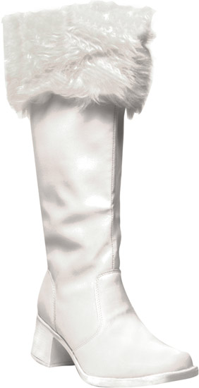 Women's White Santa Claus Boots