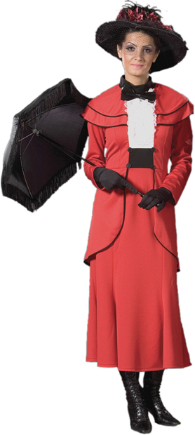 Deluxe Red British Nanny Costume