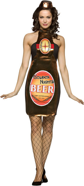Adult Sexy Beer Bottle Costume