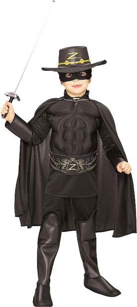 Toddler Zorro Muscle Chest Costume