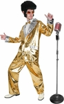 Adult Gold Lame Elvis Suit Costume