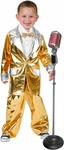 Child's Gold Lame Elvis Suit Costume