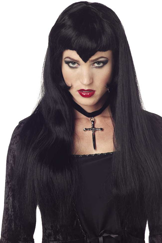 Long Black Vampiress Wig