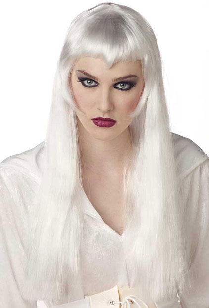 Long White Vampiress Wig