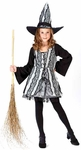 Child's Goth Rose Witch Costume