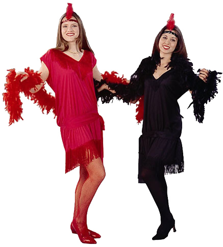 Adult Red Charleston Rag Dress Costume